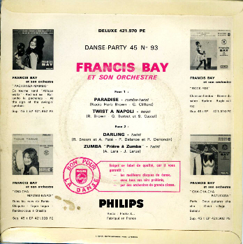 Francis Bay Et Son Orchestre* Francis Bay And His Orchestra - Francis Bay's Latin Beat